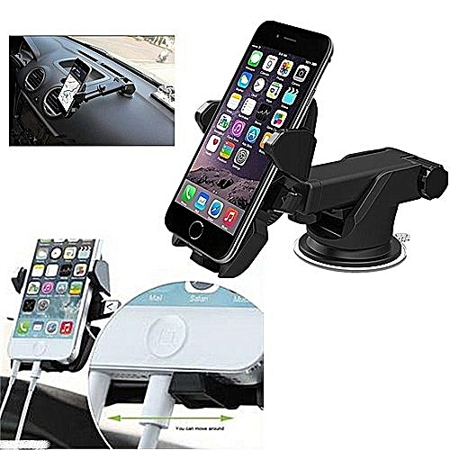 Car Phone Holder With 360 Degree Rotation.Perfect For Tecno,Samsung,Infinix,iPhone,Gionee ETC.HOW TO USE WATCH VIDEO BELOW!