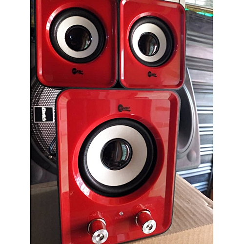 JS3356 Active Speakers Red