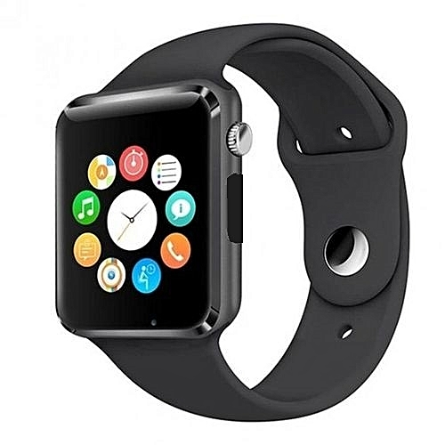A1 Smartwatch With Sim & Memory Card, Camera & Pedometer-Black