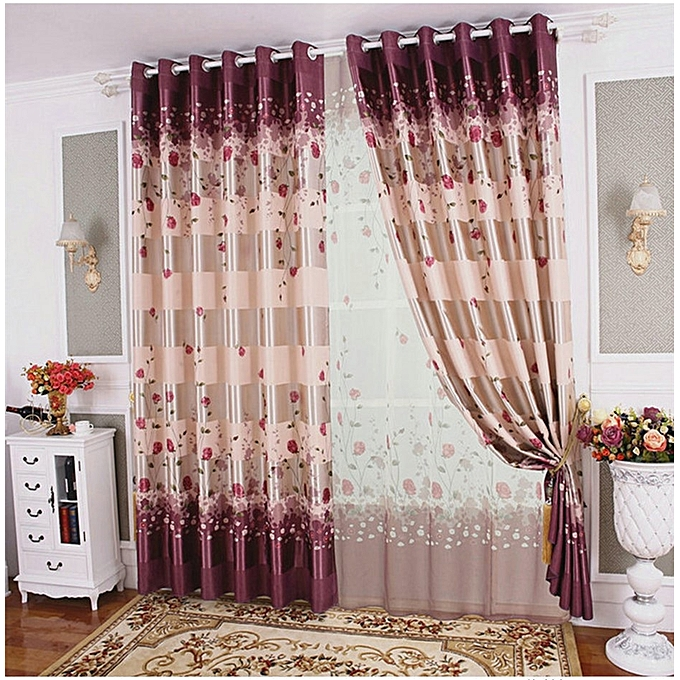 Blackout Curtains For Living Room Hotel European Simple: Arashi One Piecie Blackout Curtain High Grade Printed Rose