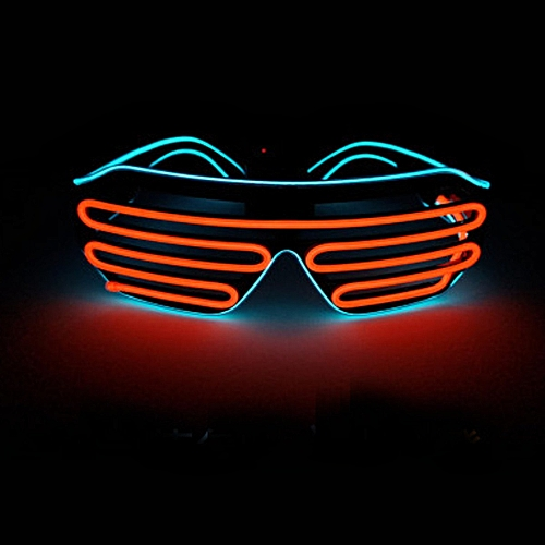 LED Glasses Double-colored Light Up Shades Flashing Rave Party Eyewear Flashing Glasses Glowing Night Shows Decors Activities