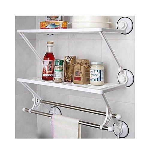 Kitchen And Bathroom Rack With Towel Bar-RACK