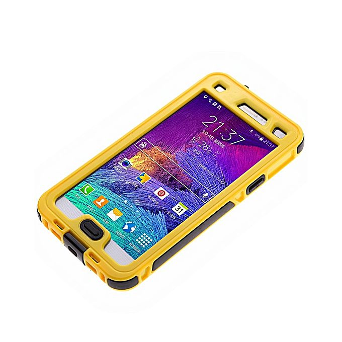 new concept b0a07 689ee Waterproof Cover Case For Samsung Galaxy Note 4 N9100 - Yellow