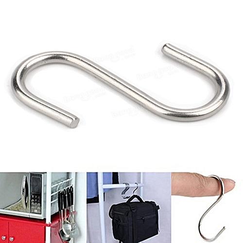 Honana BX-S001 S Shape Hooks Stainless Steel Bathroom Hanger Clasp Rack Robe Hooks