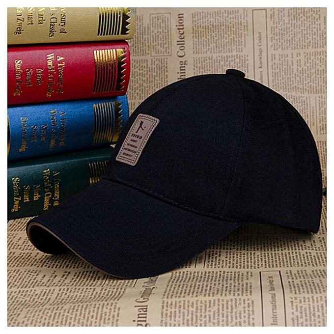 Fashion Cap Man Bone Baseball Hat For Men Baseball Cap Golf Cap Hat Man  Sport Hat Men Adjustable(Black) bc19a105348