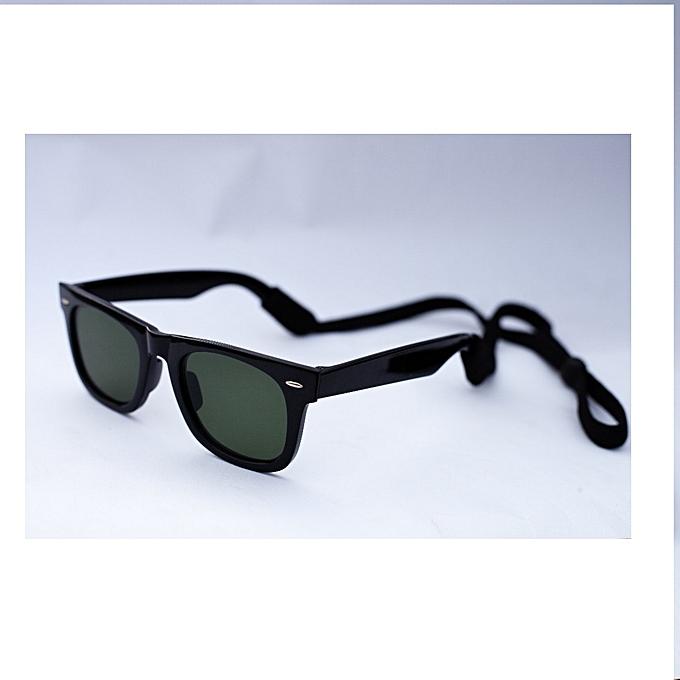 e8813d92ab Classic Wayfarer Style Sunglasses With Black Cord Classic Wayfarer Style  Sunglasses With Black Cord