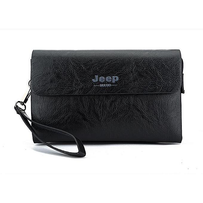 624e9ca66d Fashion Men Clutch Bags Leather Wallet Mobile Phone Money Bag Black ...