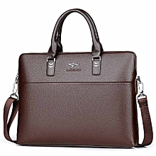 58be72c10bc TIANHONGDAISHU Men Casual Briefcase Business Shoulder Leather Messenger  Bags Computer Laptop Handbag Men'