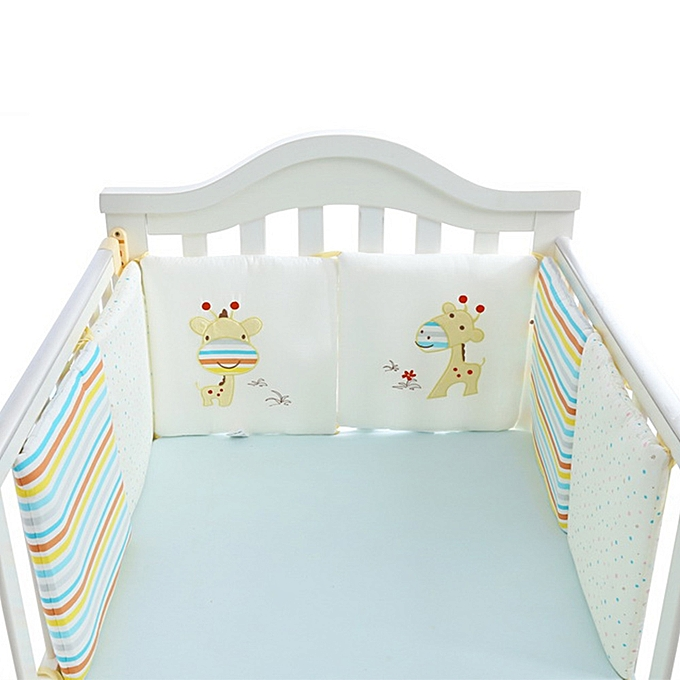 Mother & Kids Cotton Baby Crib Liner Baby Crib Bumper Baby Bed Around Monkey Bedding Set 6 Pcs Safe Bedding Sets