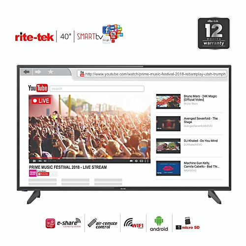 40 Inch Android Smart Full HD LED TV With Smart Air Remote With Voice Control