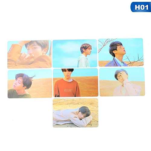 7 Pieces/Set Eleganya New Popular BTS Member Personality Photo Pictures Boutique Plastic Cards H01