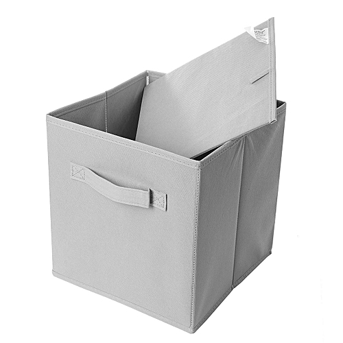 2-6PK Foldable Square Fabric Storage Bin Collapsible Box Clothes Organizer Cube