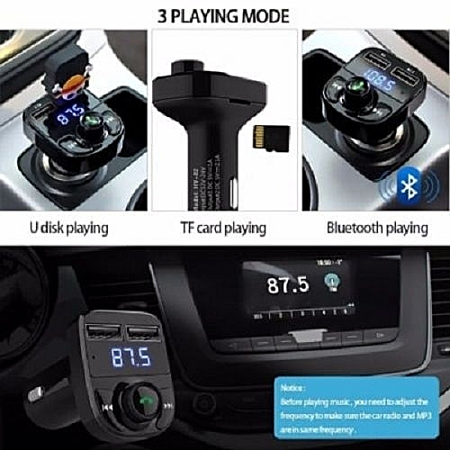 Car Bluetooth MP3 & Handsfree Kit, Phone Charger, FM Transmitter & Music Adapter