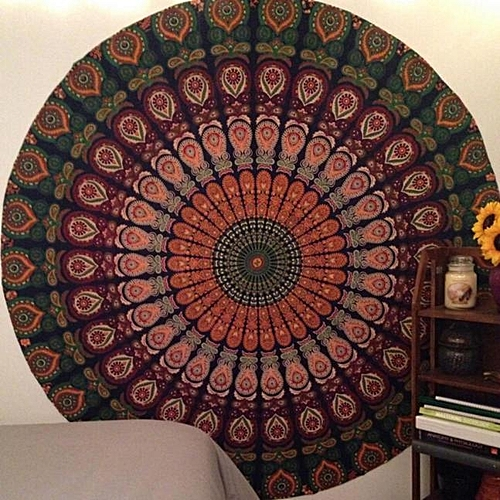 Dtrestocy Round Beach Pool Home Shower Towel Blanket Table Cloth Yoga Mat