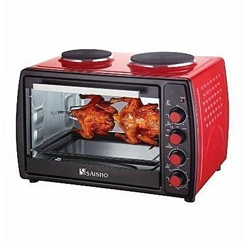Electric Oven With Double Hot Plate -50L