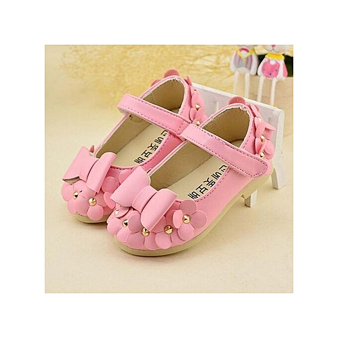 775323a0ea66d1 Baby Girls Flats Toddler Cozy Pretty Flowers Dress Shoes Ball Gown Sandals  PK - Pink