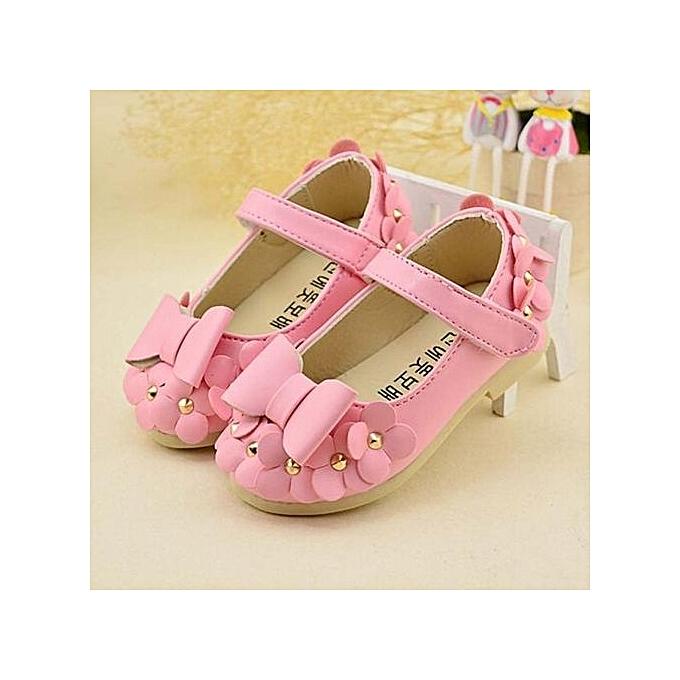 1c75d6de857a0 Baby Girls Flats Toddler Cozy Pretty Flowers Dress Shoes Ball Gown Sandals  PK - Pink