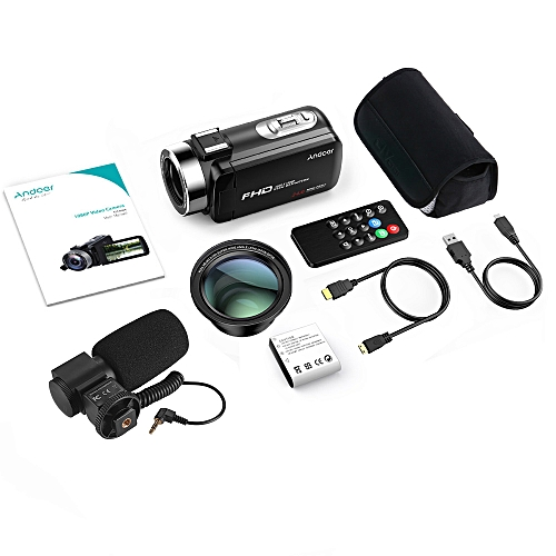 Andoer FHD 1080P Camecorder Digital Video Camera Infrared