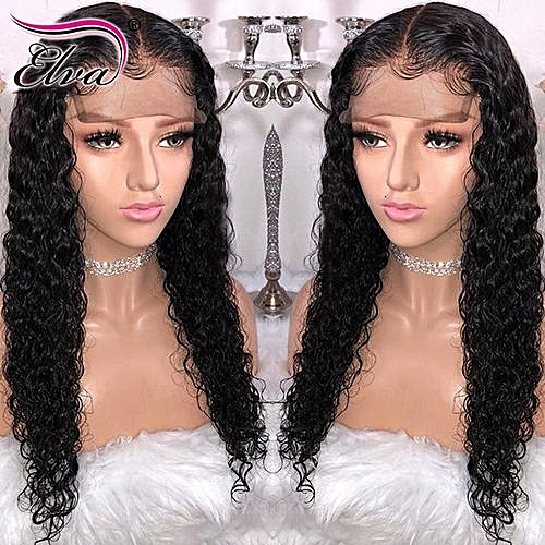 Elva Hair Curly Lace Front Human Hair Wigs Pre Plucked Hairline Brazilian