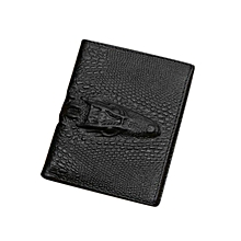 Tectores Bifold Wallet Men Leather Black Credit/ID Card Holder Billfold Purse Wallet