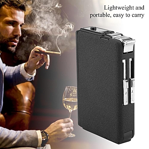 Safe Fashionable Lightweight Automatic Portable BBQ Cigarette Lighter Box