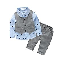 405cbd8bf Fantynes Baby Boy Clothes Gentleman Baby Boy Clothing Set Vest Shirt Long  Pants