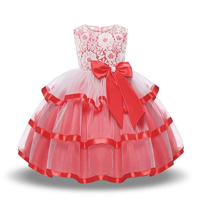 196514475 Fashion Children's Wedding Dress Princess Dress For 3 To 8 Year Old ...