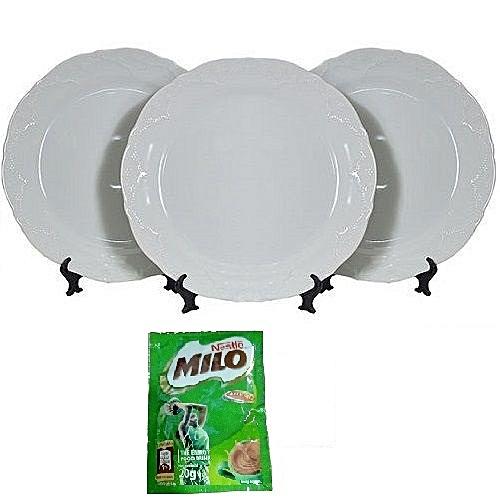 Premium 3Pcs Dinner Plate Set - Queen
