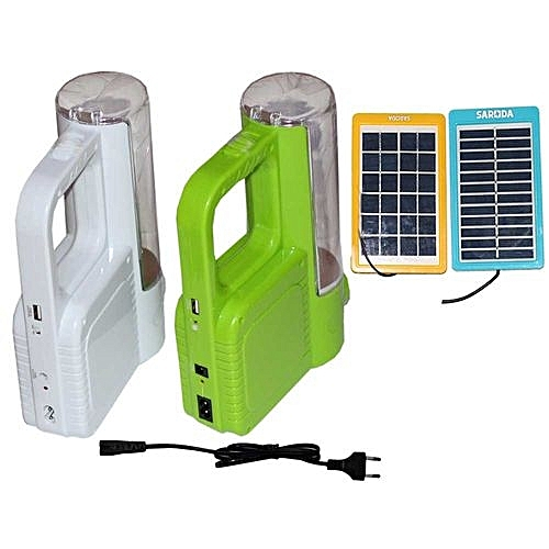 BRIGHT RECHARGEABLE LED CAMPING LANTERN WITH FREE SOLAR PANEL