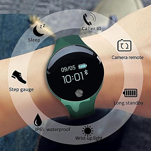 Waterproof Bluetooth Smart Watch Sport Intelligent Pedometer Fitness Green
