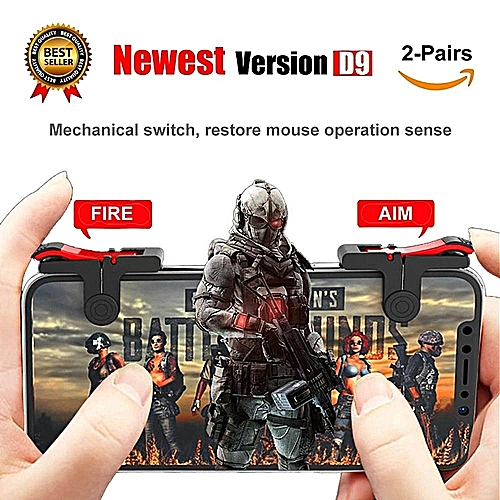 2 Pair Best PUBG Game Mini Joystick Shooting Aim Key Button Auxiliary Key Gamepad Game Controller Winner Winner Chicken Dinner For Rules Of Survival,Last Battle Ground, Survivor Royale, Free Fire WWD