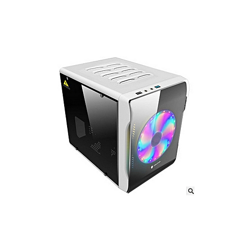 Mini ITX M-ATX USB 3.0 Tempered Glass Computer Gaming PC Case With LED Fan