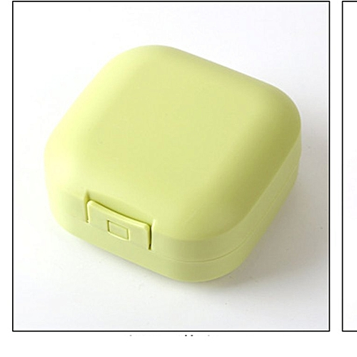 Creative Drain Soap Box Silicone Bathroom Holder Tray Tool Cover Green