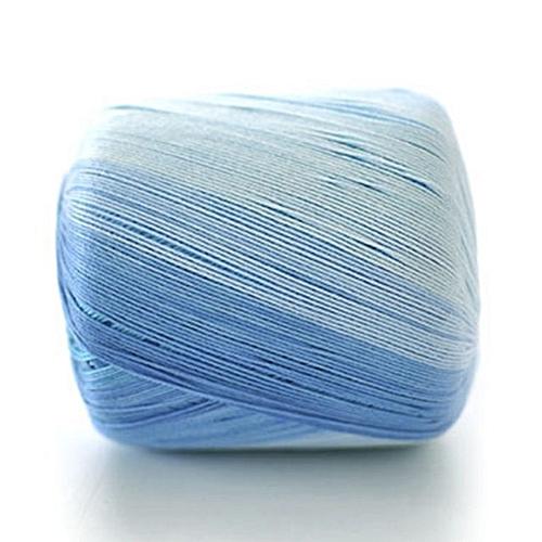 Handmade Crochet Hook Yarn Colorized No.5 Pure Cotton Fine Knitting Wool Blue
