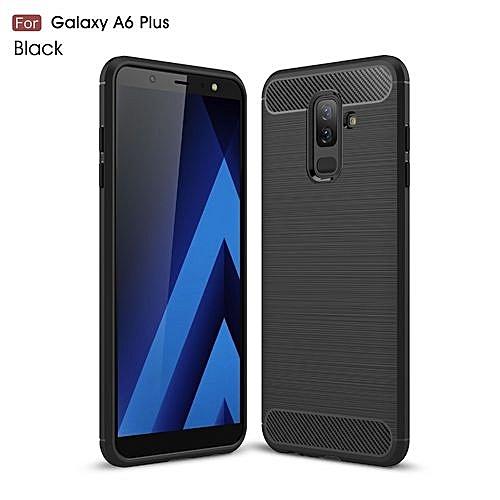 online store 549c8 17287 Generic Samsung Galaxy A6 Plus 2018 --- Carbon Fiber Soft Silicone ...