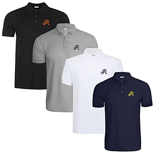Crested Polo Shirts (Pack Of Four) - Multicolour