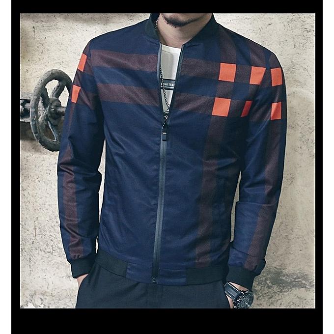 f14c313d2b8 ... New Fashion Brand Jacket Men Trend Korean Slim Fit Mens Designer  Clothes Men Casual Jacket- ...