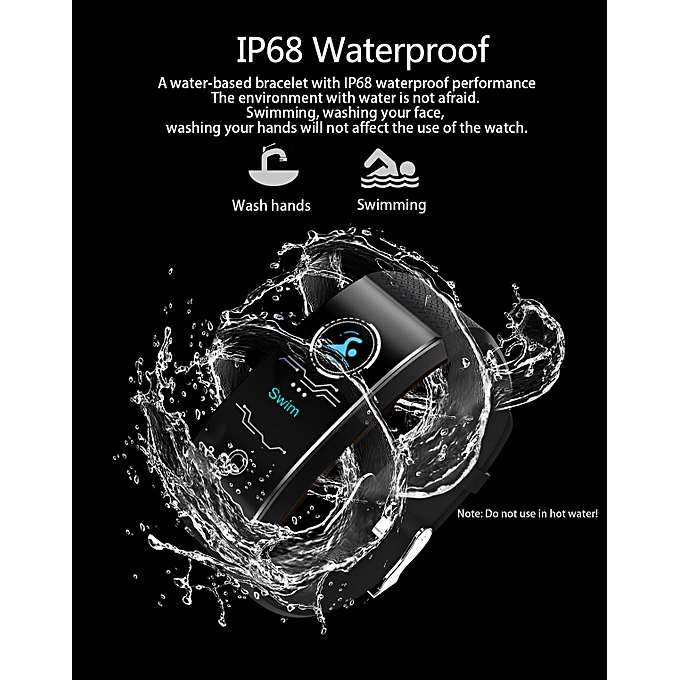 QW18 Smart Watch Sports Fitness Activity Heart Rate Tracker Blood Pressure  Watch