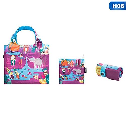 Eco Friendly Shopping Bags Waterproof Travel Custom Reusable Handbag Women Shoulder Cloth Pouch Foldable H06