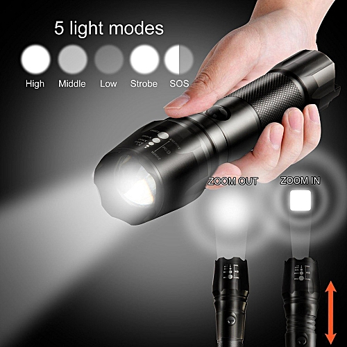G700 X800 Zoomable XML T6 LED 18650 Flashlight Focus Torch Lamp Light