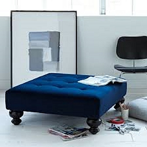 Jeromi Leather Tuffed Ottoman (DELIVERY IN LAGOS ONLY)