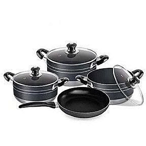 Non-Stick Pot Set + Frying Pan - 4 Piece