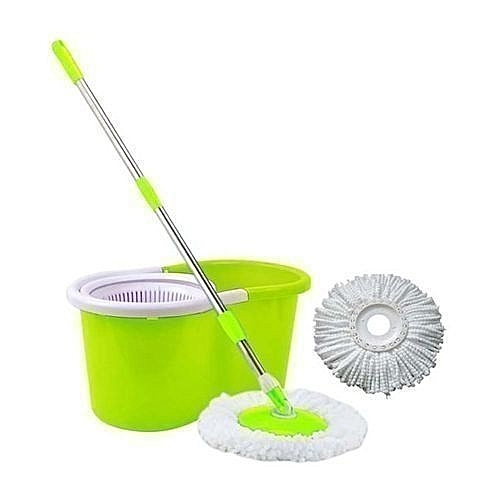 Extendable Spin Mopping Stick And Bucket