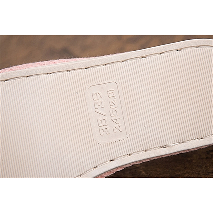 7f0375677 Generic Indoor Slipper -cotton And Linen Thick Bottom Anti-skid-Pink ...