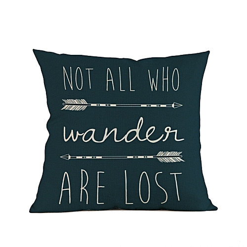Africanmall Store Arrow Printing Sofa Bed Home Decoration Festival Pillow Case Cushion Cover C-Multicolor