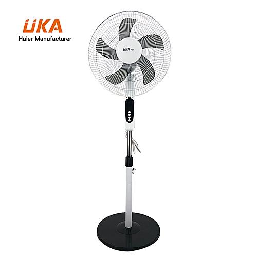 """16"""" 3PP Blades Standing Fan (LF-KA1610) - White/Black"""