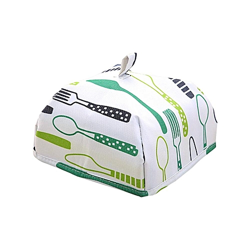 1Pc Aluminum Foil Food Cover Heat Insulation Foldable Dish Dust Table Covers(Green Small)