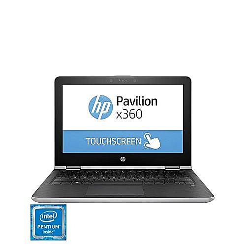 "Pavilion 11 X360 11.6"" Touchscreen Convertible Laptop-Silver (Intel Pentium Quad Core N4200 - 500GB HDD - 4GB RAM)"