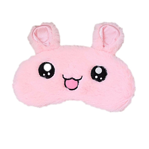 GB Cute Rabbit Sleep Eye Mask Relieving Fatigue Eyeshade Cold Hot Eyes Cover-pink
