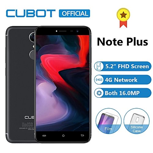 Note Plus 5.2-inch FHD (3GB,32GB ROM) 16MP + 16MP Android Fingerprint 4G Smartphone - Black